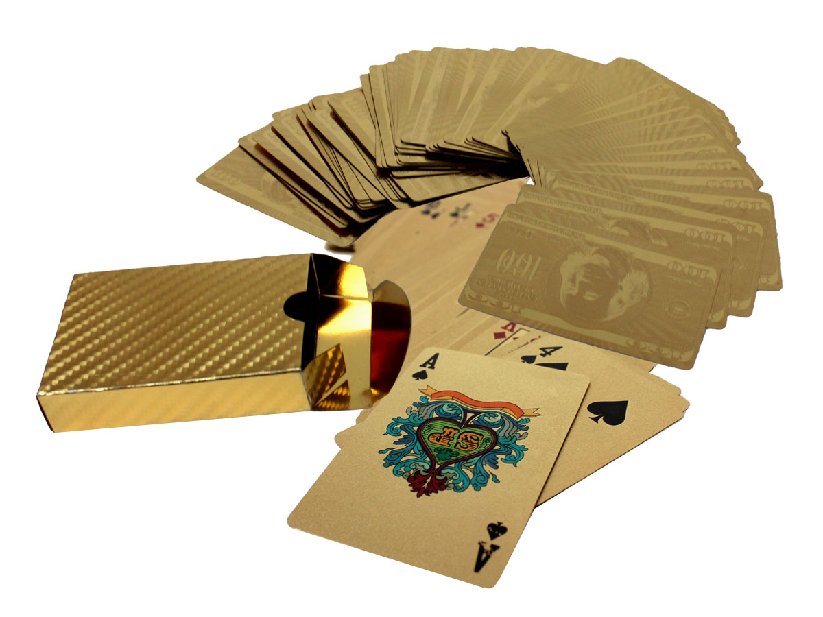 A Deck of 24K Gold Plated Playing Cards